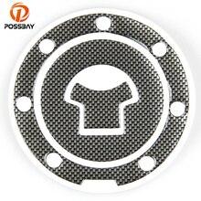 POSSBAY Универсальный углеродное волокно Мотоцикл масляный газовый топливный бак протектор кристальная эпоксидная накладка наклейка s протектор Наклейка Наклейки