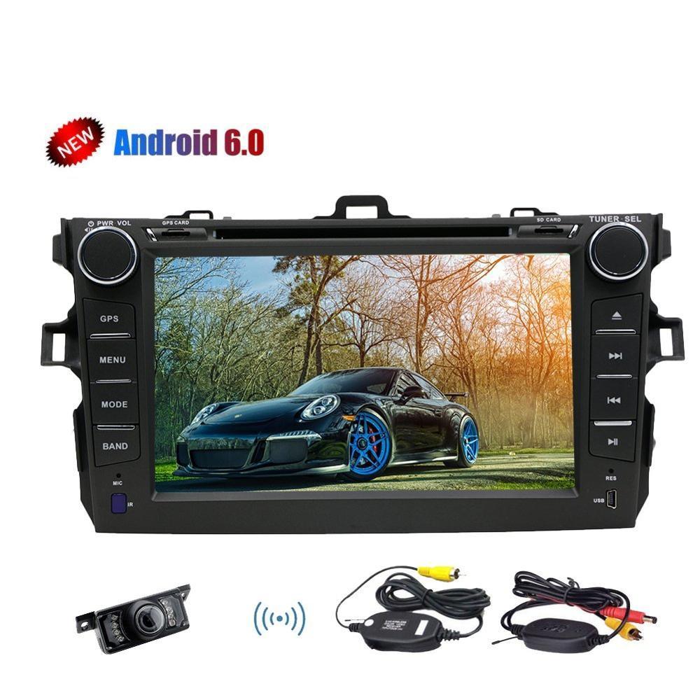 6.0 Marshmallow Android стерео Системы с quad core GPS навигации Bluetooth dvd плеер автомобиля для toyata Corolla (2007 2013) supp