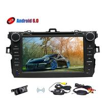 6.0 Marshmallow Android Stereo System with Quad core GPS Navigation Bluetooth Car dvd Player For Toyata Corolla (2007 2013) supp