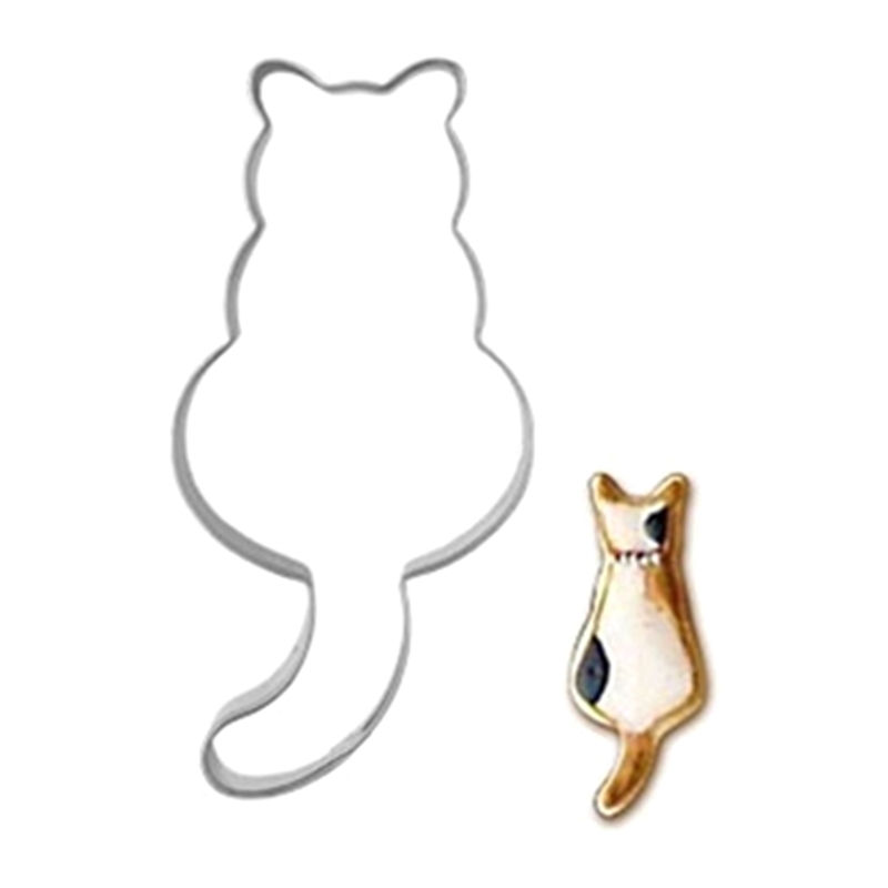Biscuit Cake Baking Mold 1pcs Stainless Steel Lovely Cat