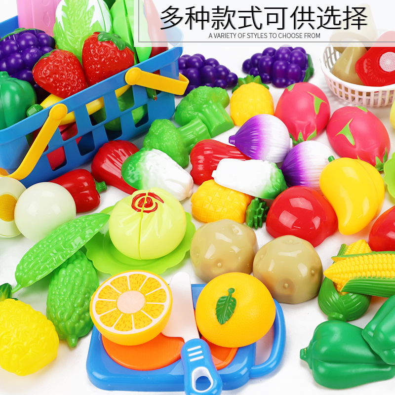 Childrens Cut Fruit Toys House Kitchen Combination Vegetables Baby Boys Girls Cut Cuts Cuts Set