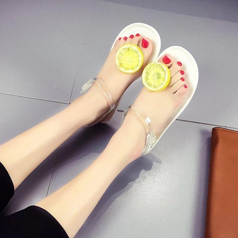 2018 Summer Women Sandals Open Toe Flip Flops Womens Flat Sandles with Low Women Shoes Gladiator Shoes Novel ersonality