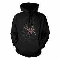 Drop Shipping Novel Spider Costume Black Hoodie Custom Hoodie Sweatshirt Men Street Wear Gym Clothing Long Sleeve Hodies