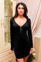 Vestidos De Fiesta Dress Rushed Solid Full Spandex Casual Europe And The Ebay Winter Explosion Aliexpress For Hot Chest Zipper