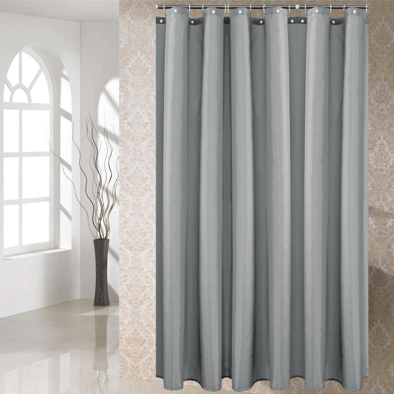 US 29 OFF Bathroom Accessories Waterproof Shower Curtain Bathroom Curtain Toilet Partition Curtains Plain Color Polyester For Hotel Home In