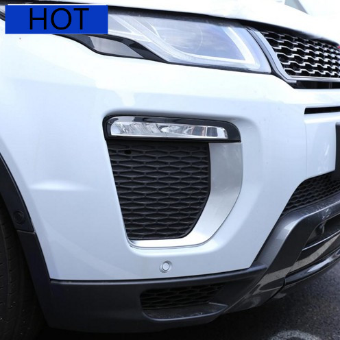 For Landrover Range Rover Evoque HSE Dynamic 2016 Car Accessories Front Fog Lamp Frame Trim ABS Chrome New Arrivals for landrover range rover sport 2014 2016 car accessories abs chrome dashboard u shape frame trim new arriavls