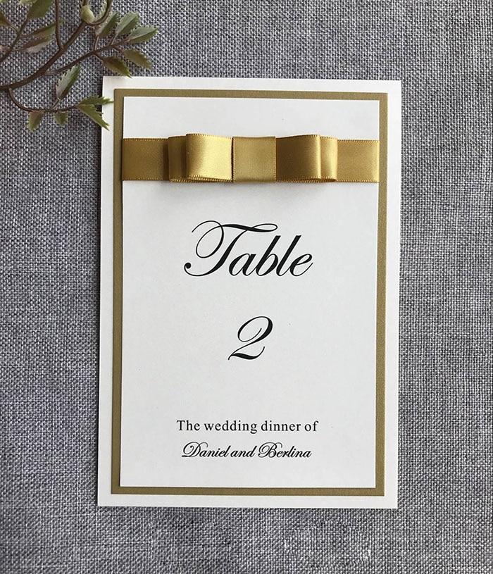 새틴 리본으로 결혼식을위한 ca0701 독특한 테이블 카드-에서파티 방향표시부터 홈 & 가든 의  그룹 2