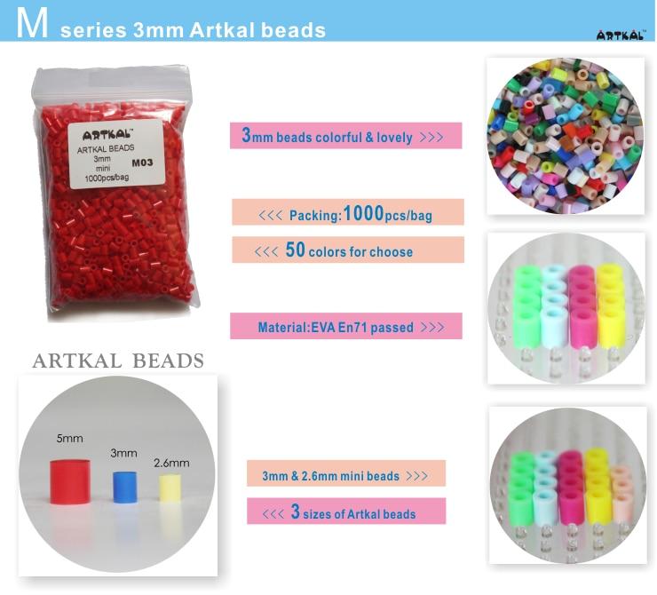 Artkal boncuk 55 torba 55,000 boncuk 3mm mini hama boncuk 1000 adet / - Oyunlar ve Bulmacalar - Fotoğraf 2