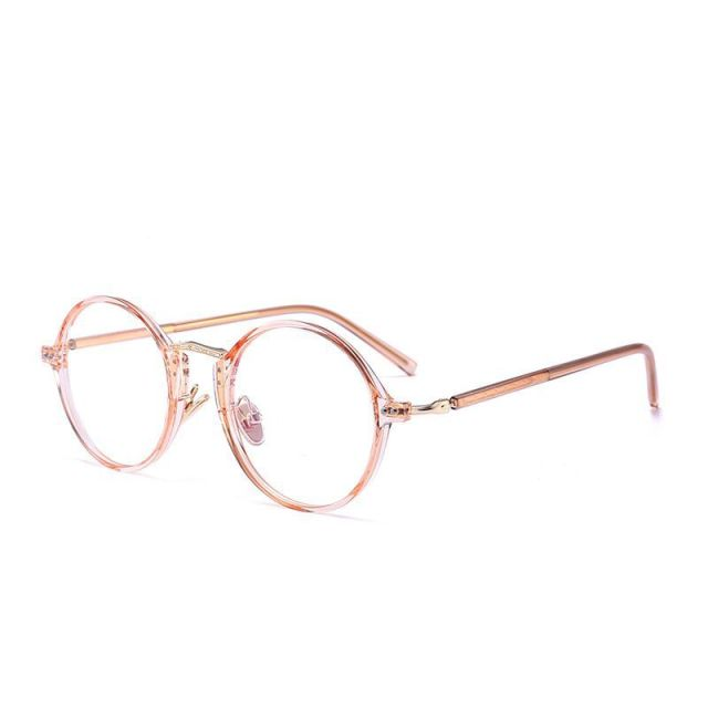 MINCL/ 2018 Hot Sale Round Glasses Women Clear Eyeglasses Frame Pink ...