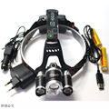 8000 lumen LED Headlamp  XML T6 Waterproof Zoom  Adjust Focus For Bicycle Camping Hiking Headlamp +2*18650 battery+Car charger