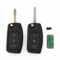 Flip Folding Smart Remote Key 3 Buttons 433MHz With 4D63 Chip For FORD Focus Fiesta Mondeo
