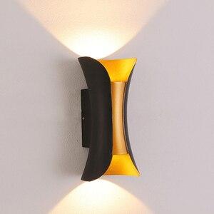 Image 2 - Lámpara LED de pared para interior, candelabro de aluminio moderno, impermeable, para escalera, baño, jardín, porche, dormitorio, espejo