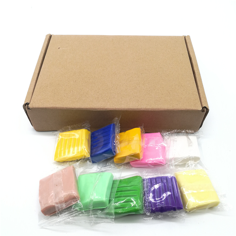 24pcs/set DIY Colored Clay with Tools Kit Crystal Mud Clay Toys for Baking Fimo Polymer Soil Slime Plasticine Toys