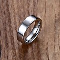 Mprainbow Mens Rings Tungsten Steel Wedding Band Ring 6mm for Men Women Polished Facted Edges Fashion anel masculino Jewelry