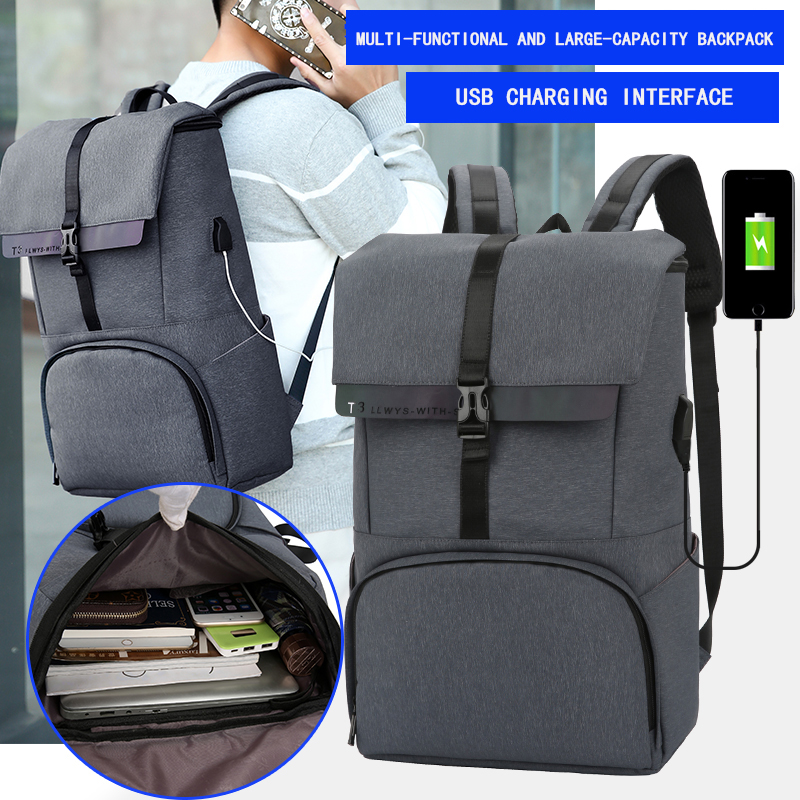 OUBDAR Travel Backpack For Men USB Charging Laptop Backpack Male Large Capacity Multifunction Anti-theft Waterproof Bags Women