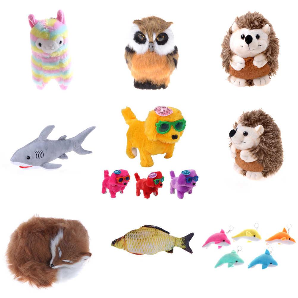 Belle alpaga requin hibou hérisson en peluche poupée Animal en peluche animaux poupées doux en peluche dauphin chien renard pour enfants cadeaux d'anniversaire