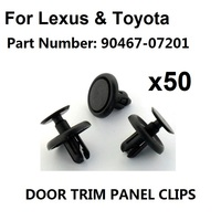 50x For Lexus & For Toyota Plastic Clips for Engine Bay Covers & Shields (7mm Hole),OE#90467 07201