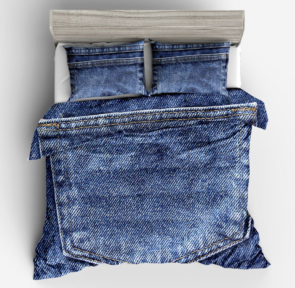 Cotton&Polyester New 3D Bedding Set 3pcs Sets No Sheet Twin Full Queen King Size Jeans Printing Design Bed Sets