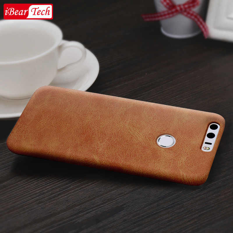 huawei honor 8 protective case honor8 leather case mofi original honor 8 case cover leather luxury smooth hard back capa PU