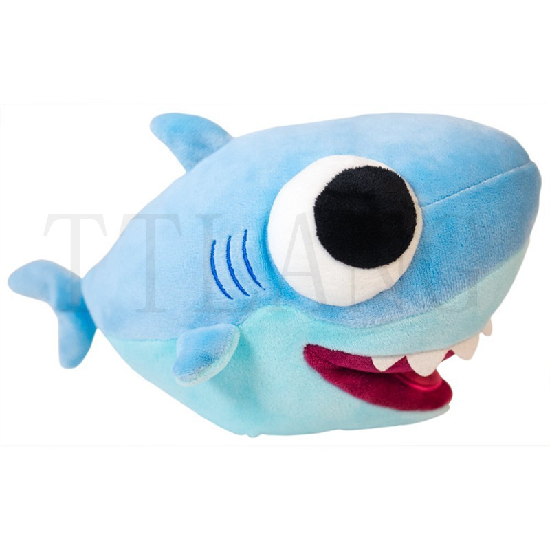 25cm Big Eyes Shark Plush Toy Baby Animal Shark Official Soft Stuffed Dolls For Kids Gift
