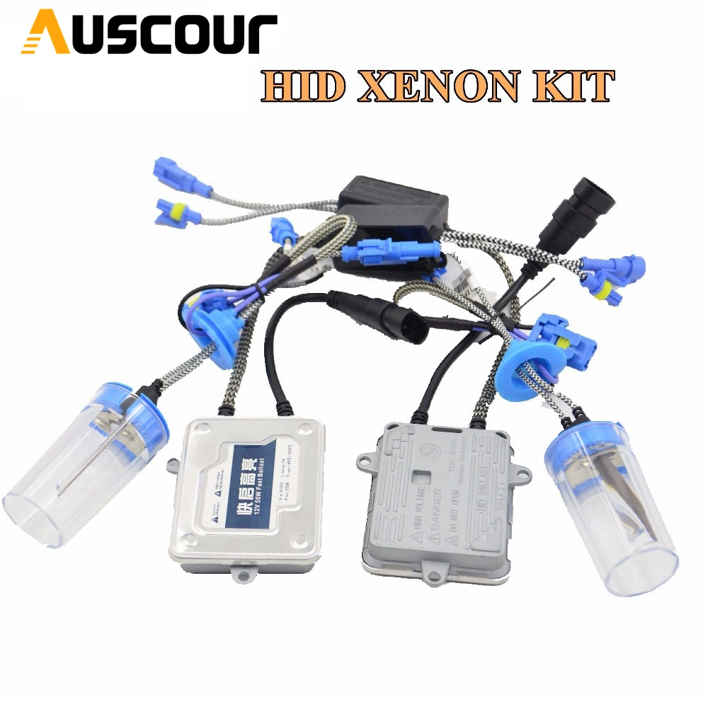 55 w AC hid xénon kit ballast hid kit de conversion xénon ballast xénon ampoule couleur blanche 6000 k voiture phare auto lampe h1 h7 h8