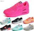 2017 Nova Moda Sapatos Casuais Almofada de Ar Feminino Lace-up rosa branco Primavera Outono Sapatos Femininos Formadores Walking Jogging 35-40