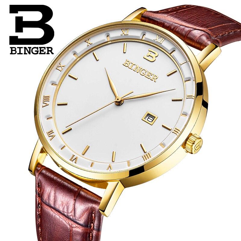 Switzerland BINGER Men Watches Luxury Brand Watch Men Quartz reloj hombre Japan Miyota Movement Waterproof Wristwatches B2001M-3