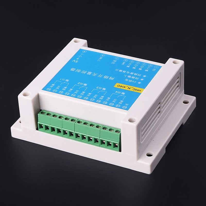 4 into 4 out of network switch Ethernet relay switch pass through MODBUS TCP IP relay