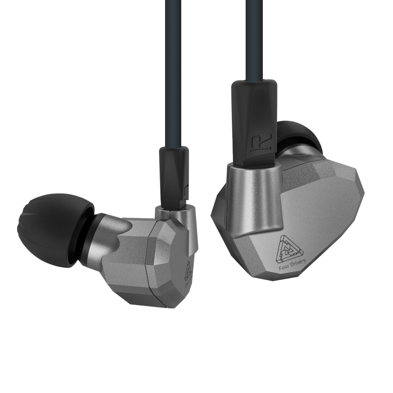 KZ ZS5 Double Hybrid Daynamic + Balanced Armature Sport Earphone Four Driver In Ear Headset Noise Isolating HiFi Music Earbuds original senfer dt2 ie800 dynamic with 2ba hybrid drive in ear earphone ceramic hifi earphone earbuds with mmcx interface