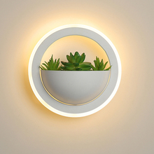 Modern plant wall lights Creative bedside bedroom sconce living room simple modern aisle acrylic Nordic Indoor LED wall lamp цены