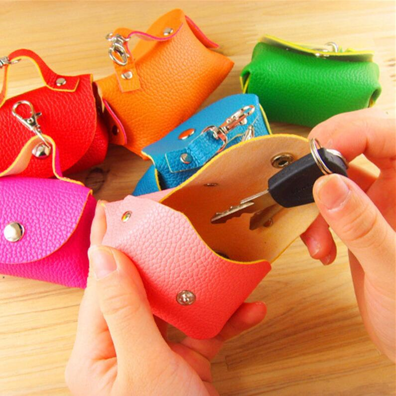 Fashion New Candy-colored Women Coin Wallet Candy-colored Coin Purse PU Leather Small Key Coin Holder Wallet Bag gardening tool small rake black cream colored