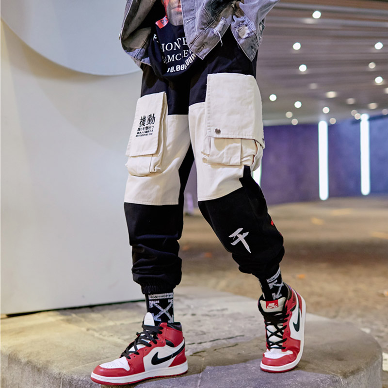 Cool INS Men Women joggers 2019 Spring Summer Japan hiphop Pants Hip Hop Joggers Sweatpants Trousers Male Streetwear US Size L