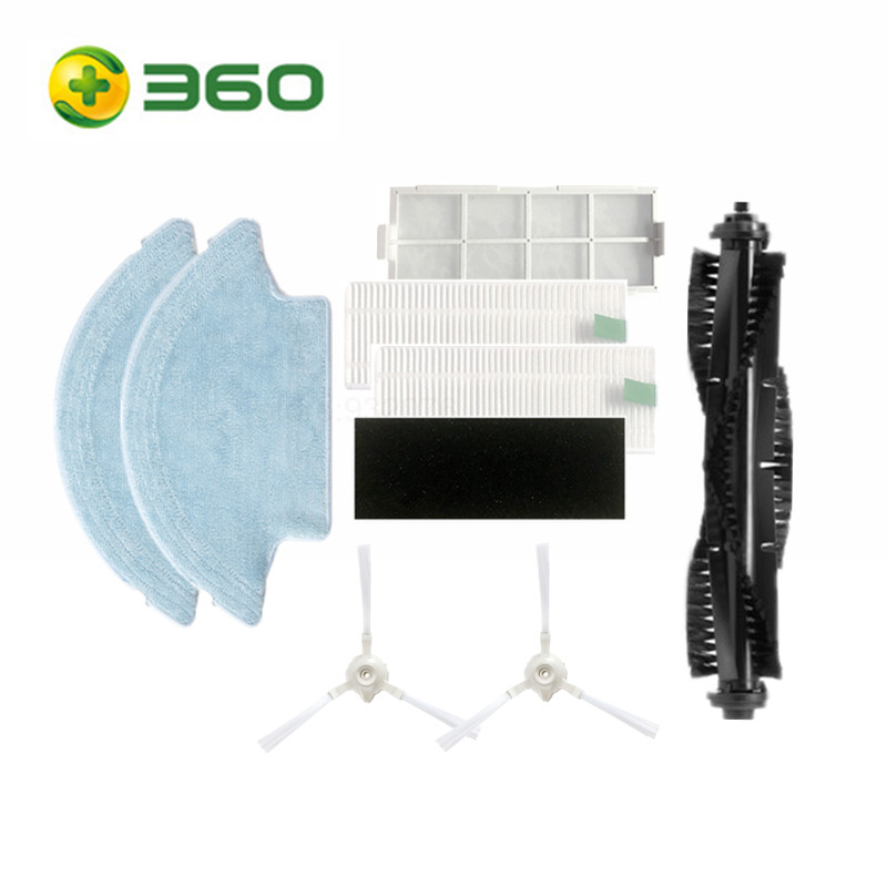 Original Packaging Part Pack For 360 S6 Robot Vacuum Cleaner Spare Parts Kits Side Brushes Mop Main Brush Filter Set