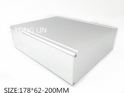 Caixa de Alumínio dos Pces Escudo do Servidor de Diy Pequeno do Chassi Cerco do Chassi Alojamento de Alumínio Mini Multifuncional 1 178*62-200mm –