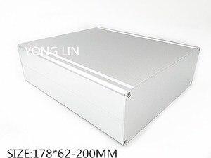 Алюминиевый корпус 178*62-200 мм, 1 шт., корпус для сервера DIY, маленькое алюминиевое шасси, мини-корпус, многофункциональный алюминиевый корпус