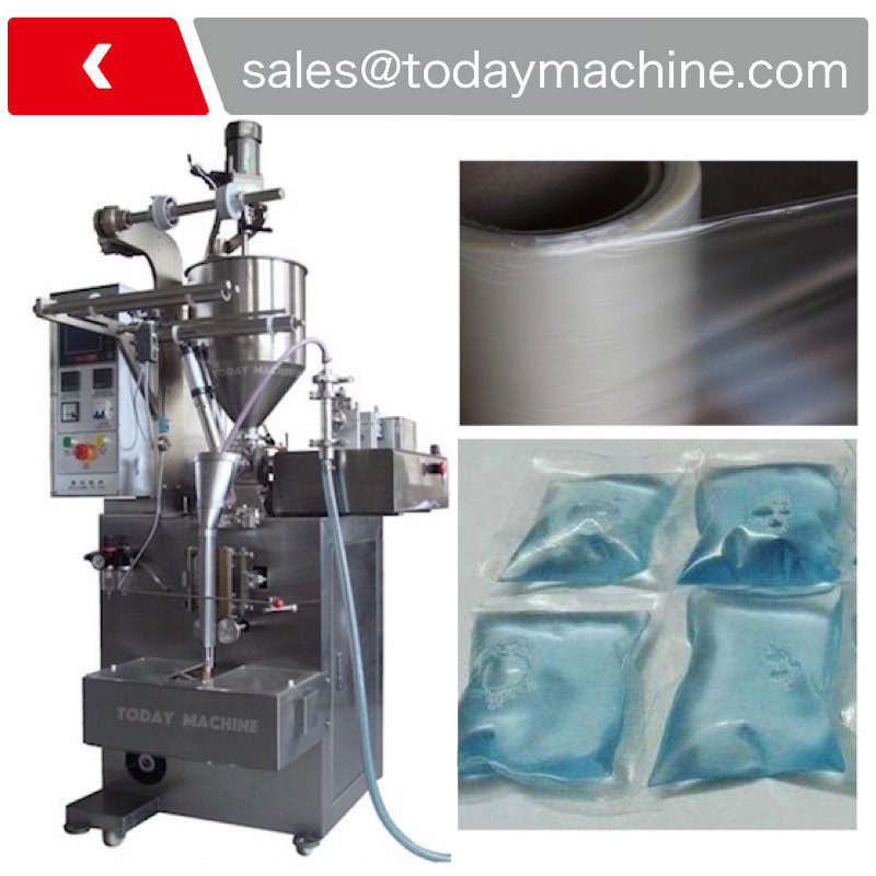 Cold Water Soluble Film Laundry Liquid Detergent Pods Packaging / Filling Machine