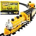 2017 La Venta Caliente de Tren de vagones de ferrocarril pista ingeniería coche bicicleta eléctrica modelo de tren de juguete carro de controle remoto a gasolina de Juguete Para Niños
