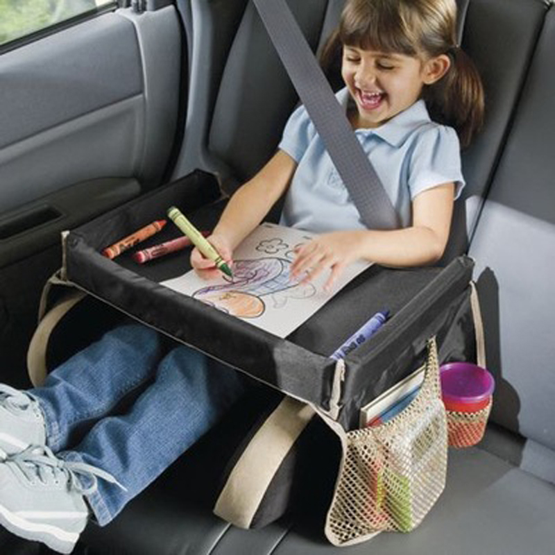 Car storage table Waterproof table Car Seat Tray Storage Kids Toys Infant Stroller Holder for Children Baby stroller accessories