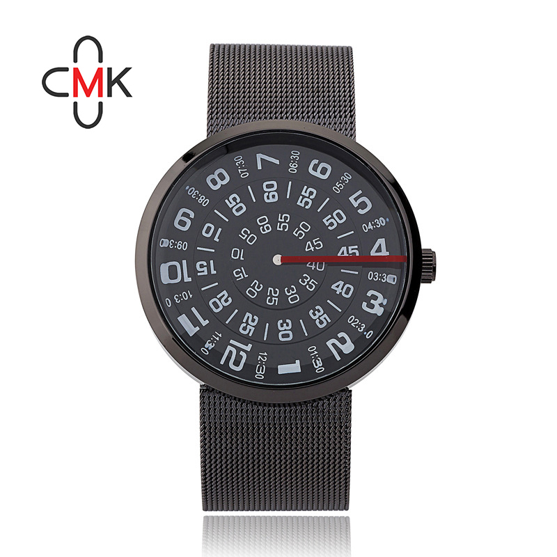 2016 men's digital hands wristwatch waterproof creative handsome red line mark gentleman fashion brand quartz watches men gifts