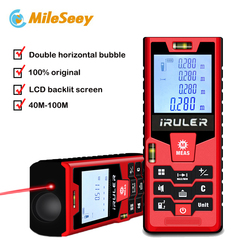 Mileseey S9 الليزر Rangefinder 40 m 60 m 80m100m حاكم الليزر مقياس مسافات الشريط مجموعة مكتشف