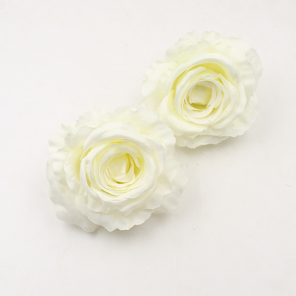 1pcs 10cm Big Artificial Silk Flower High Quality Rose Head Wedding