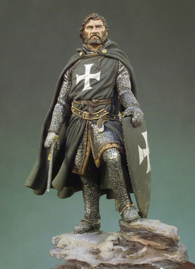 Scale Models 1 32 54mm Knight Hospitaller 1250 54mm figure Historical WWII Resin Model Free Shipping
