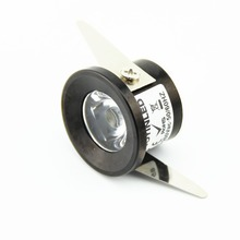 10pcs/Lot  Recessed Aluminum lamp 1W Mini LED downlight Black round ceiling spot lights