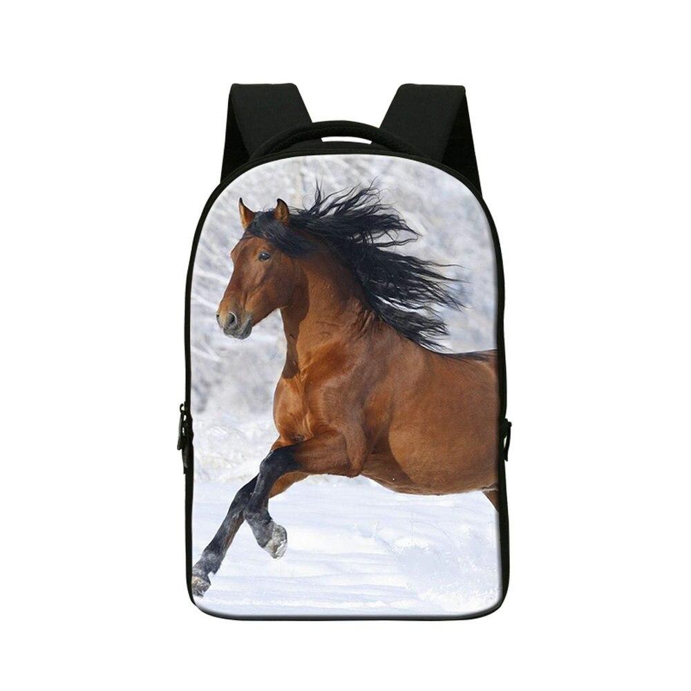 Dispalang crazy horse impression travl sacs à dos nouveau style hommes ordinateur portable sac à dos pour les entreprises 3D livre animal school sacs pour les adolescents