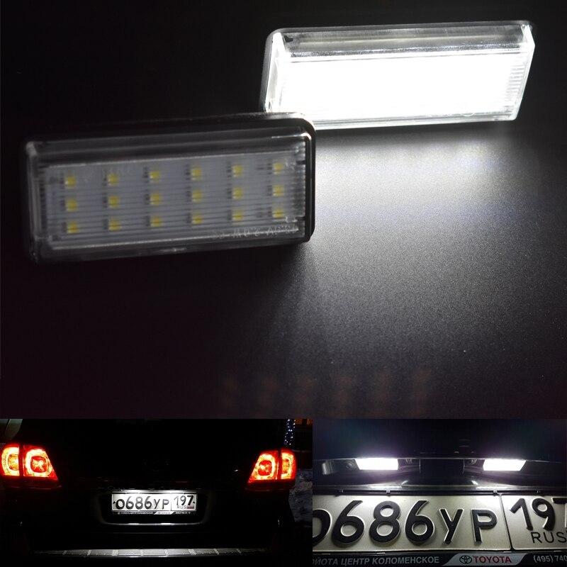 Para Toyota Land Cruiser 120 Prado Land Cruiser Lexus de 200 GX470 estilo de coche No Error LED blanco placa de matrícula trasera auto de la luz de lámpara