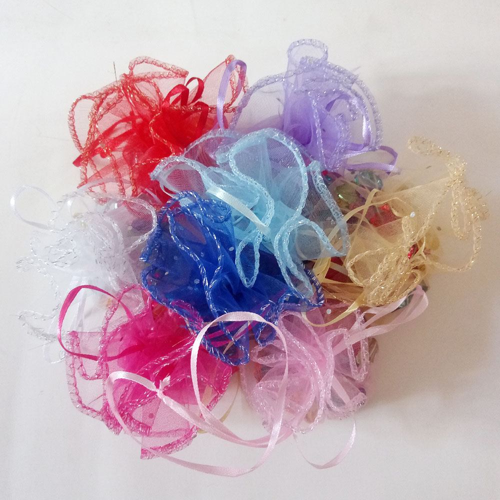 100pcs Organza Gifts Bags Drawstring Round Candy Bag Wedding Gift Bags For Jewelry/party/woman Pouches Packaging Display Storage