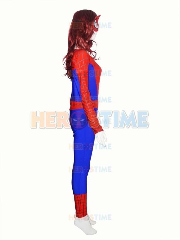 Qadın versiyası Aşağı Boyunlu Hörümçək Kostyum Spandex - Karnaval kostyumlar - Fotoqrafiya 2