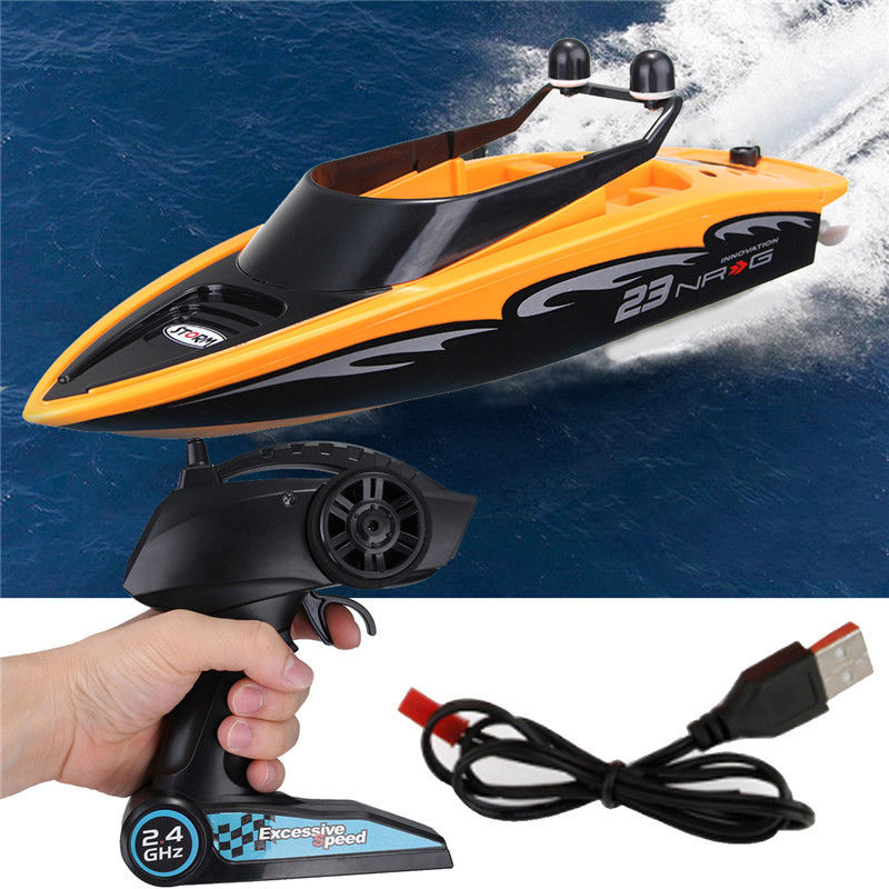 High Speed RC Boat  2.4GHZ 4 Channel  Radio Remote Control RC Racing Boat Electric Toys RC Toys For Childern Best Gifts