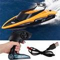 Rc barco de alta velocidade 2.4 ghz 4 canais rádio controle remoto rc barco de corrida brinquedos elétricos rc para childern melhores presentes