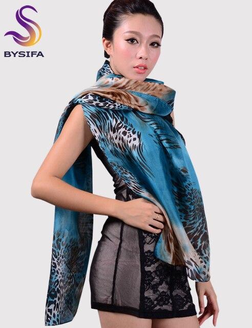 Big Size 180*110cm Women Blue Long Scarf Printed,Fashion Autumn Winter Pure silk Ultralarge Leopard Print Silk Scarf